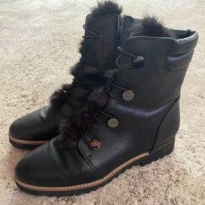 Franco Sarto Cold Weather Leather Boots